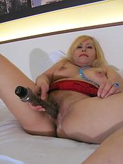 Sex toy inside mature vagina