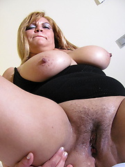 Busty euro mature playing with sex toy