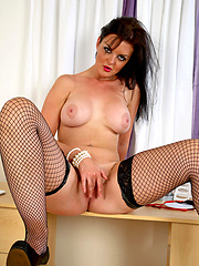 Amazing anilos mature wearing in sexy black stockings