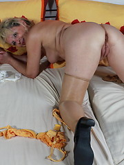 Granny maid masturbation at work