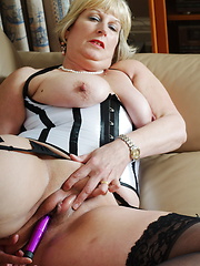 Classy mature lady going naughty