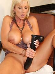 Alysha having a little fun with some dildos