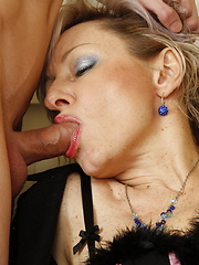 Cock sucking mature slut