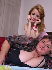 Horny old and young lesbians go to town